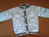 pletený svetřík pro vnoučka