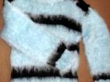 pruhovaný svetr z mohéru