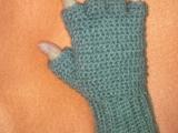 Háčkované rukavice bez prstov 2