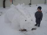 sněhový dinopark