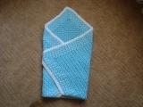 Háčkovaná deka modrá pro miminko