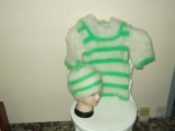 čepice teplý svetřík s třičtvrtečními rkávy