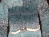Dámský mohérový dlouhý svetr s kapucou