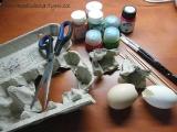 tulipán z vajíčka