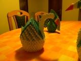 3D Origami labuť
