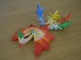 3D Origami fénix