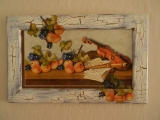 Obraz: Husle a ovocie