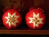 Falošný patchwork - vianočné gule