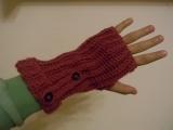 Háčkované rukavice bez prstov