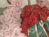 Volánková šála a vánoční kabelka