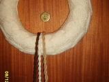 pletený věneček pro vnučku