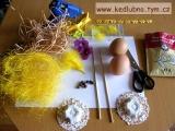 Pan vajíčko - zápich do květináče