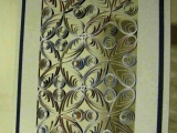 papírová vitráž - obdélník,šestiúhelník