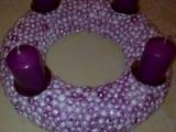 Adventní věnce -lepené kuličky