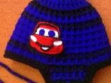 zimní čepička s autíčkem cars
