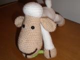 Háčkovaná ovečka se čtyřlístkem