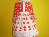 Oblečena panenka do našeho kroje.