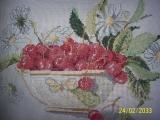 Polštářek - kopretiny a třešně