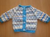 Pletený melírovaný svetřík s čepičkou