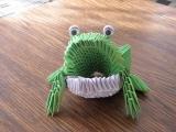 origami žába 3d