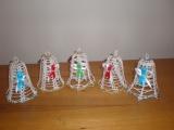 Háčkované zvonky-vánoční dekorace