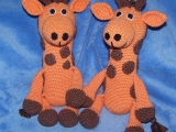 Žirafa - moje první háčkovaná hračka