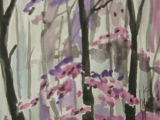 něco akvarelovými barvami