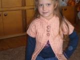 Pletená tunika pro vnučku
