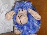 Háčkovaná ovečka -polštářek