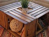 ... Jak vyrobit konferenční stolek z dřevěných beden