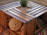 ...Návod na výrobu obývákového stolku z dřevěných beden