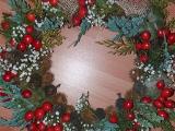 Moje vianočné venčeky a košíček