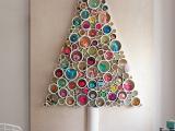 ... Vánoční dekorace- stromek na stěnu z trubek
