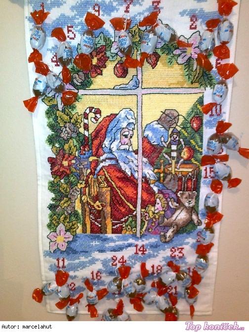 adventní kalendář santa