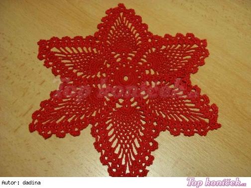 Červená vánoční hvězda