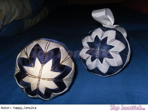 Falešný patchwork - koule, věnec