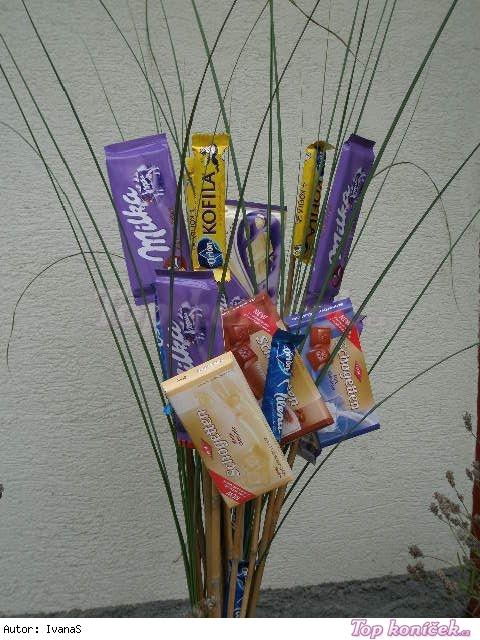Čokoládová kytice