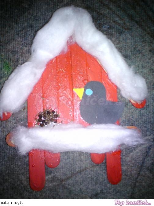 Krmítko pro ptáčky (Obrázek z lékařských špatchliček)