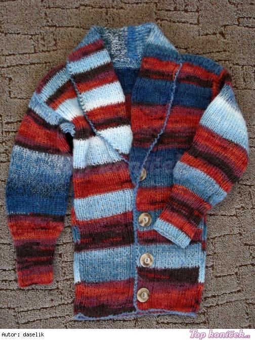 melírovaný svetr