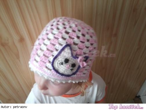 Letná čiapočka s mačičkou