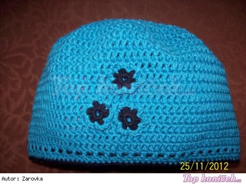 Háčkovaná čapka