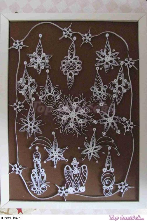 Quillingové ozdoby na vánoční stromek