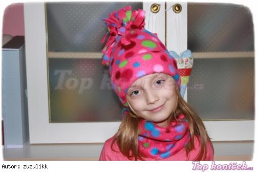 Fleece čepice + nákrčník