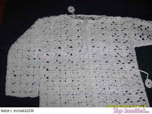 letní háčkovaný svetřík