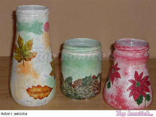 decoupage - vázy