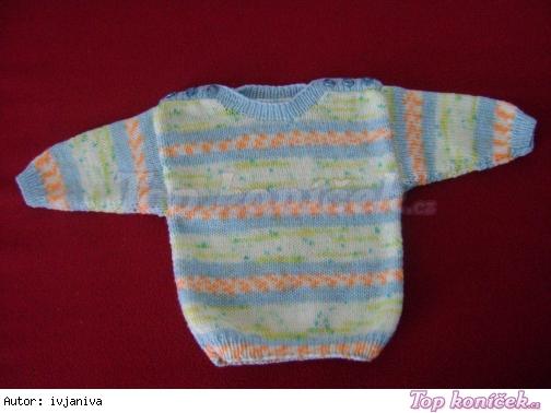 Dětský svetr ze samovzorovací vlny