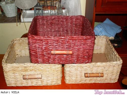 košíky z papíru Petra