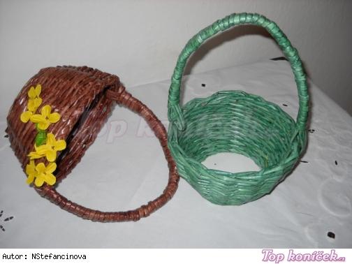 košíček třeba na velikonoční kraslice