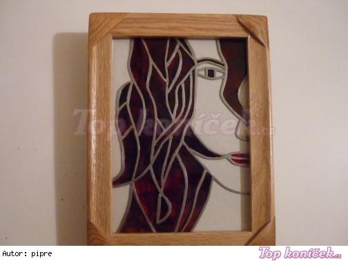 Portrét - falešná vitráž