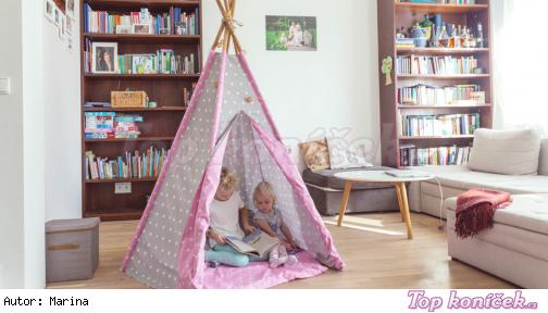 ... Jak vyrobit dětský stan na hraní svépomocí